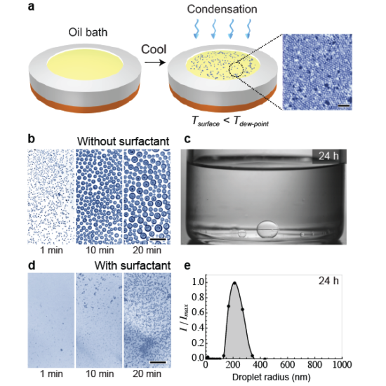 Guha, I.*; Anand, S.*†; Varanasi, K. K.†, (2017) Creating Nanoscale Emulsions using Condensation. (*Equal Contribution, †Corresponding Author), Nature Communications