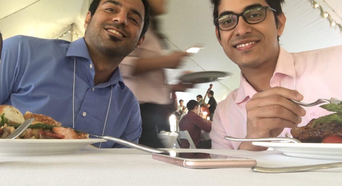 Left: Navid Saneie - Right: Rukmava Chatterjee